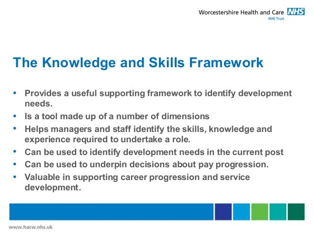 knowledge and skills framework essay It is designed to be an easy to use reference guide to the nhs knowledge and skills framework (ksf) which supports personal development planning and review (pdp&r.
