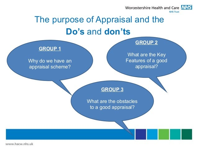 Appraisal training for What do appraisers look for