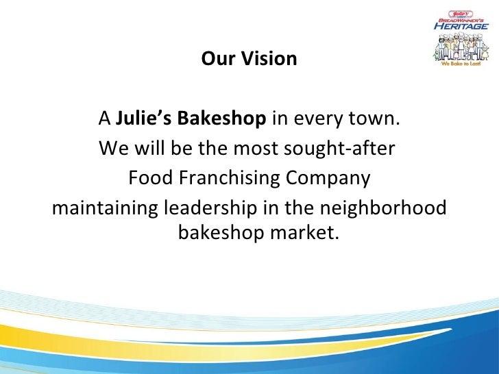 business plan of julies bakeshop