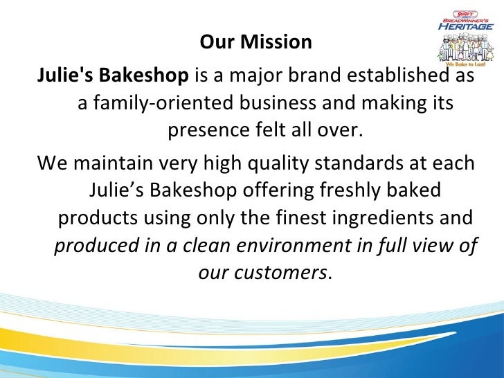 julies bakeshop business plan