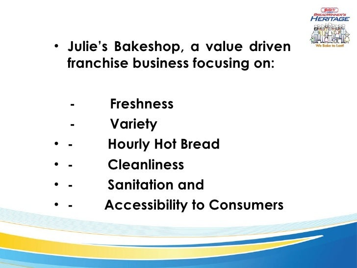 julies bakeshop business plan