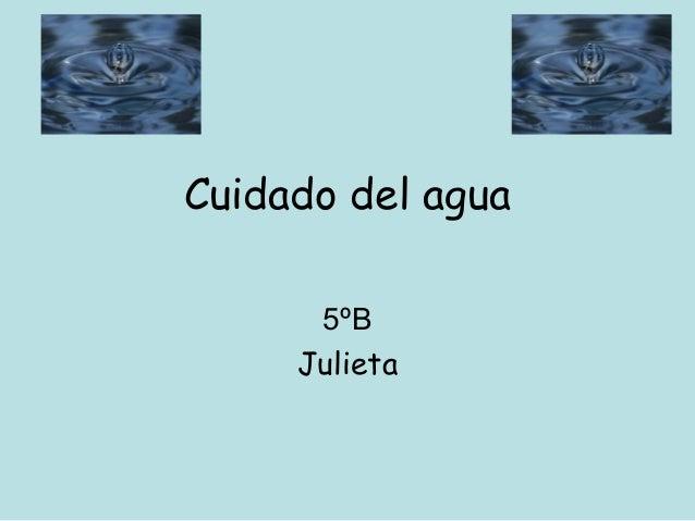 Cuidado del agua 5ºB Julieta