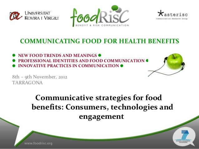 COMMUNICATING FOOD FOR HEALTH BENEFITS NEW FOOD TRENDS AND MEANINGS  PROFESSIONAL IDENTITIES AND FOOD COMMUNICATION  ...