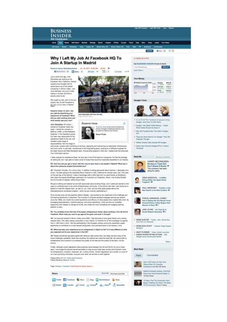 Okuri Ventures & Tetuan Valley - Menciones en medios Jul2011