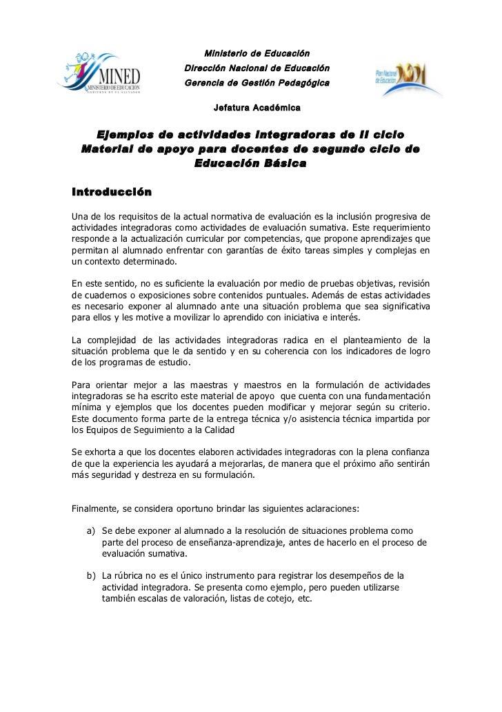 Ministerio de Educación                           Dirección Nacional de Educación                           Gerencia de Ge...