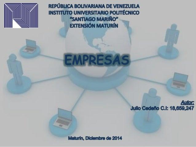 Una empresa es una unidad económico-social,  integrada por elementos humanos,  materiales y técnicos, que tiene el  objeti...