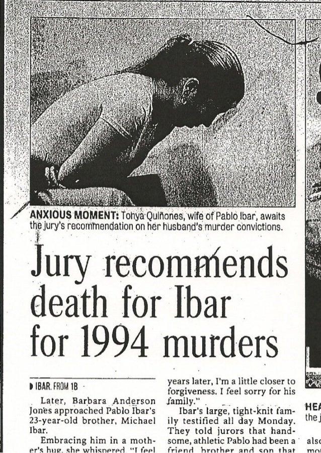 El jurado recomienda la pena de muerte para Pablo Ibar por los asesinatos de 1994