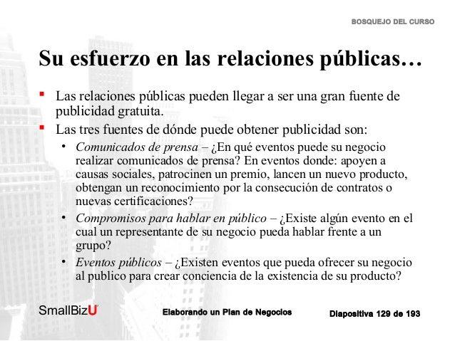 BOSQUEJO DEL CURSO  Su esfuerzo en las relaciones públicas…  Las relaciones públicas pueden llegar a ser una gran fuente ...