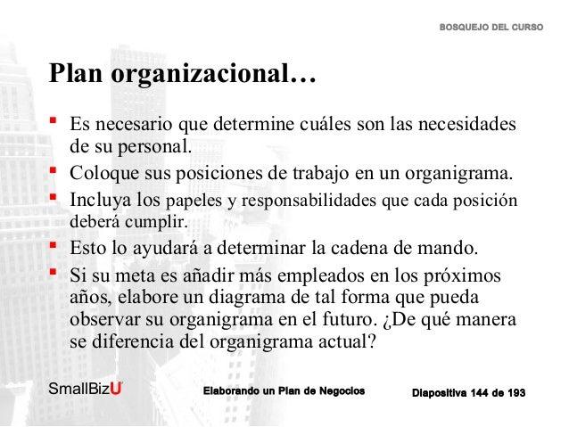 BOSQUEJO DEL CURSO  Plan organizacional…  Es necesario que determine cuáles son las necesidades de su personal.  Coloque...
