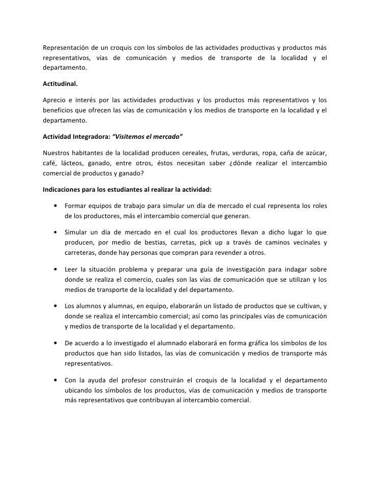 Julio Plan De  Actividad Integradora. 3º Grado Slide 2
