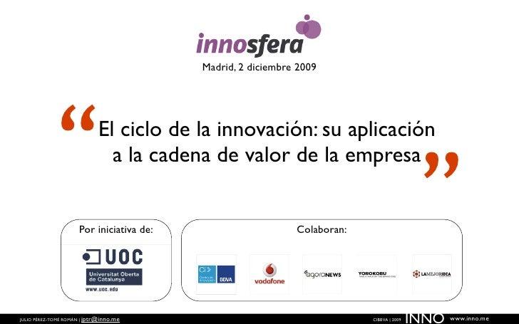 """Madrid, 2 diciembre 2009                 """"                El ciclo de la innovación: su aplicación                        ..."""