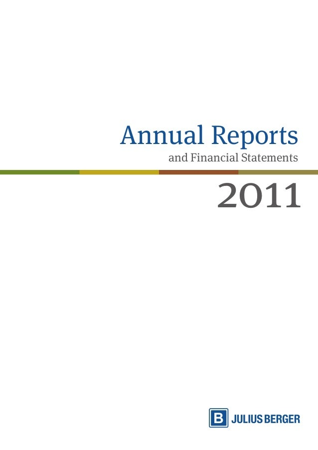 Annual Reports  and Financial Statements 2011