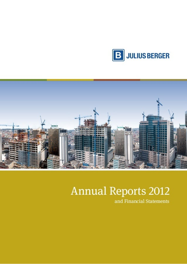 Annual Reports 2012 and Financial Statements