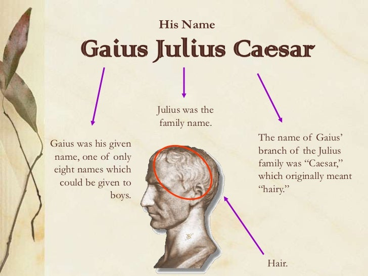 a biography of gaius julius caesar and his impact on the modern society