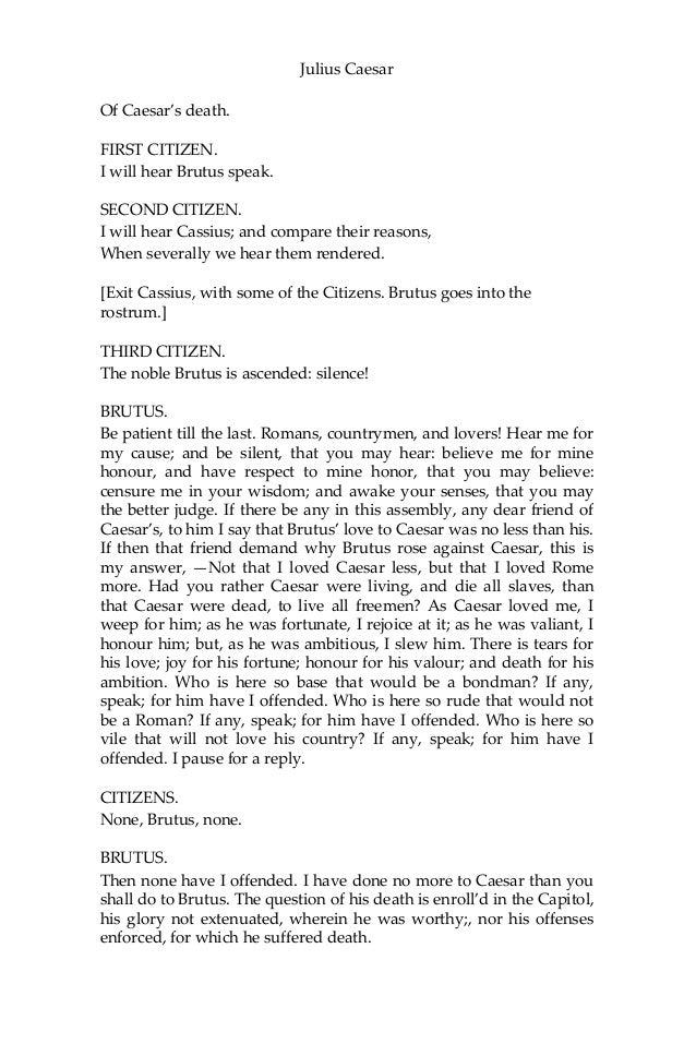 julius caesar by william shakespeare pdf