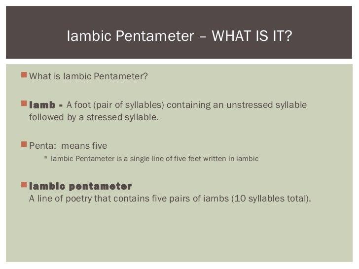 Iambic Pentameter - Julius Caesar