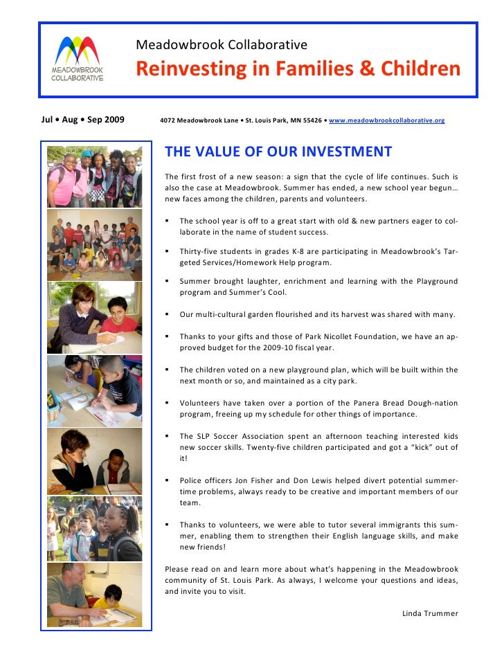 MeadowbrookCollaborative                            ReinvestinginFamilies&Children  Jul•Aug•Sep2009       4...