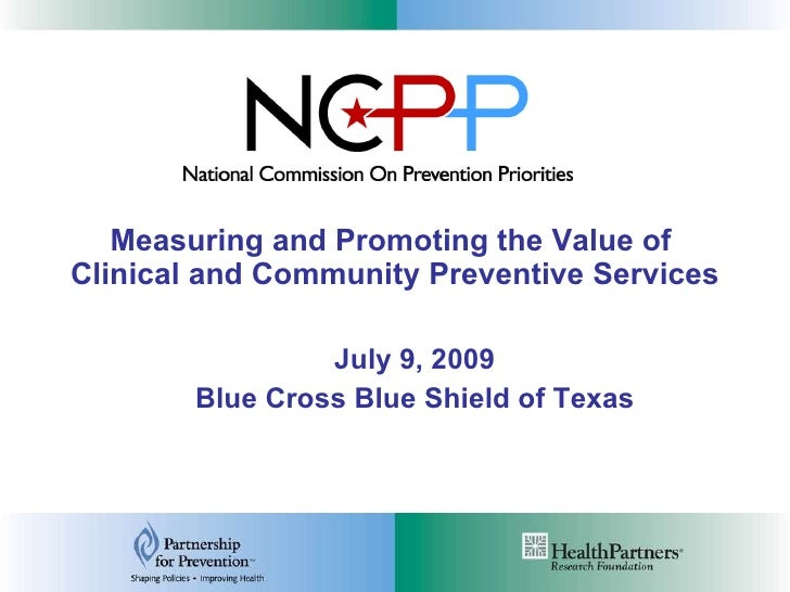 NCPP Update: Projects on Clinical and Community Preventive Services<br />Jennifer Jenson, Partnership for Prevention<br />...