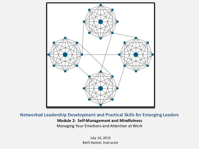 Networked Leadership Development and Practical Skills for Emerging Leaders Module 2: Self-Management and Mindfulness Manag...