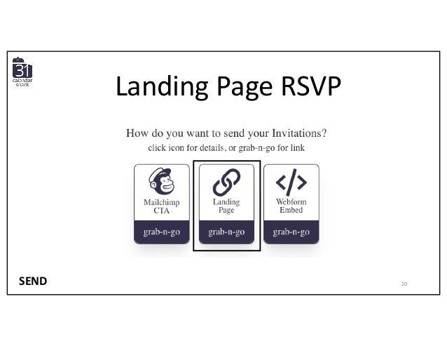 Landing Page RSVP SEND 20