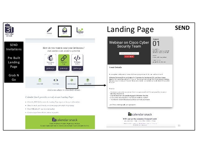 SEND Invitations Pre Built Landing Page Grab N Go SENDLanding Page 21