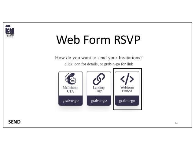 Web Form RSVP SEND 24