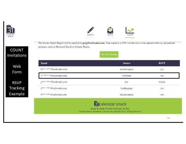 COUNT Invitations Web Form RSVP Tracking Example 28