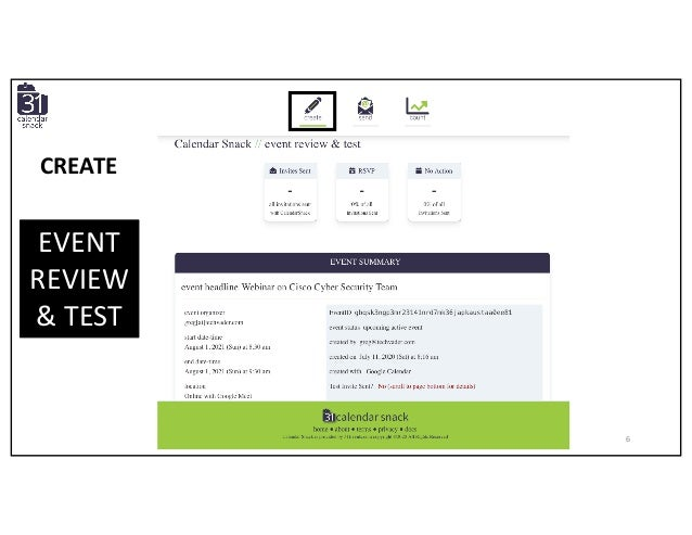 EVENT REVIEW & TEST CREATE 6