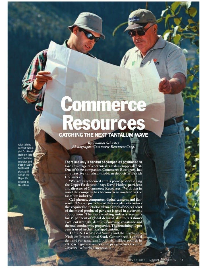 Commerce                   Resources                   CATCHING THE NEXT TANTALUM WAVE A tantalizing                      ...