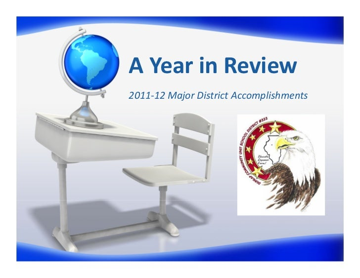 AYearinReview2011‐12MajorDistrictAccomplishments
