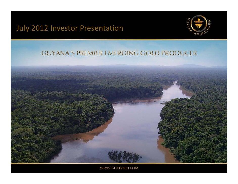 July2012 InvestorPresentation