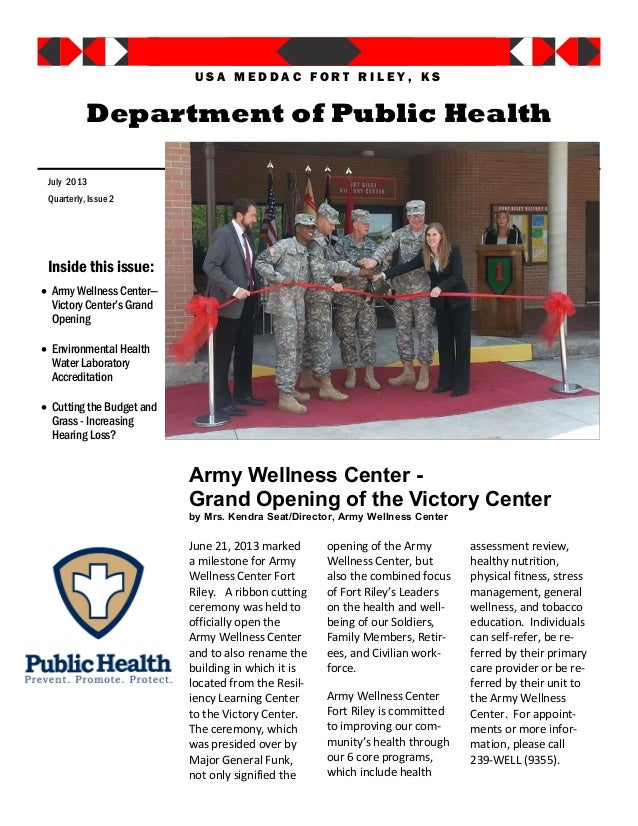 Army Wellness Center - Grand Opening of the Victory Center by Mrs. Kendra Seat/Director, Army Wellness Center June 21, 201...