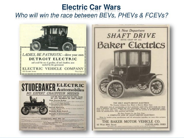 Electric Car Wars Who will win the race between BEVs, PHEVs & FCEVs?