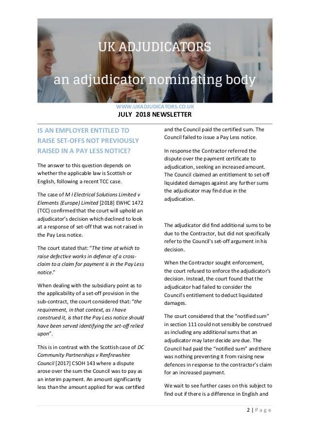 ff093a312f4 UK Adjudicators July 2018 newsletter