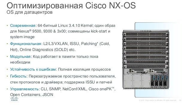 Платформа Nexus 9000 – архитектура и особенности