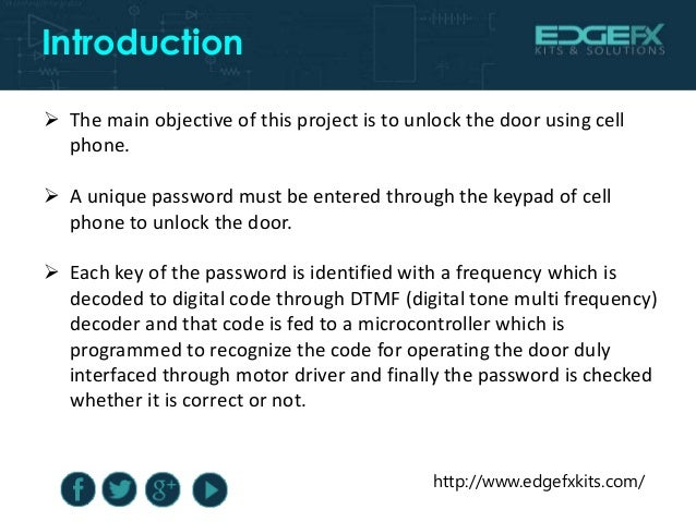 Mobile Phone Keypad Sensed Password Entry For Door Opening
