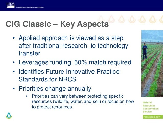 CIG Classic – Key Aspects • Applied approach is viewed as a step after traditional research, to technology transfer • Leve...