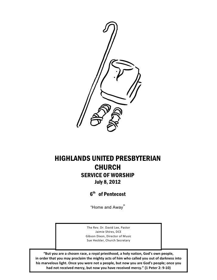 HIGHLANDS UNITED PRESBYTERIAN                      CHURCH                           SERVICE OF WORSHIP                    ...