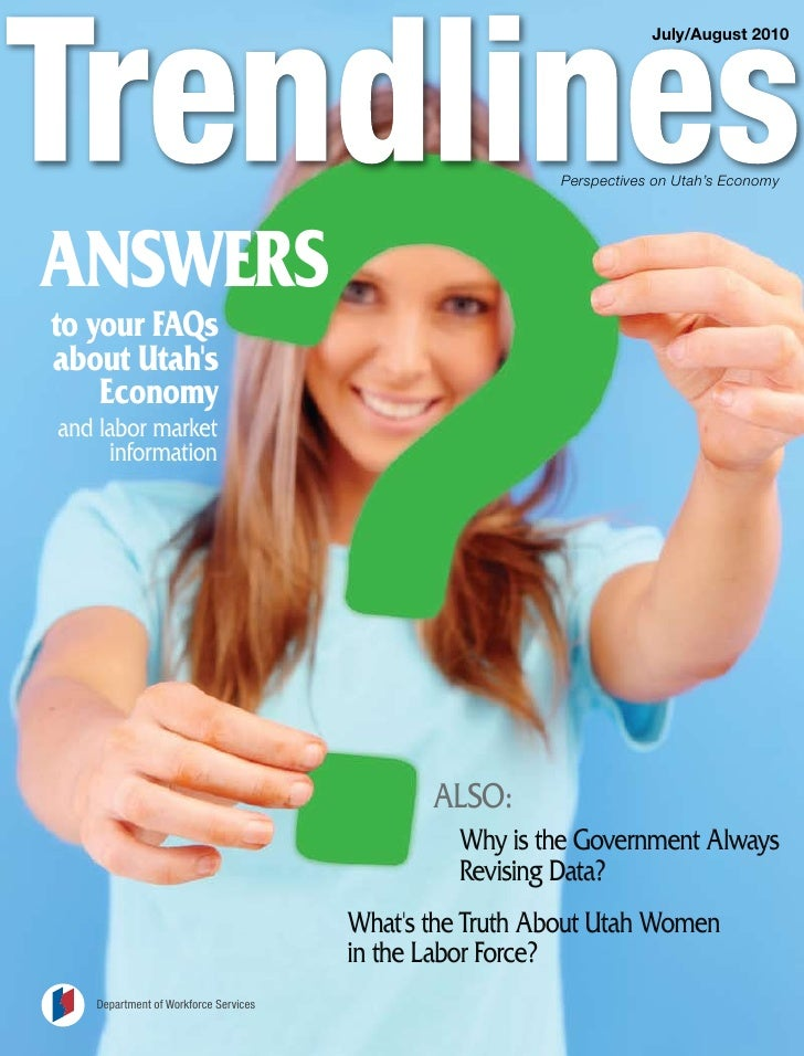 July/August 2010                                                             Perspectives on Utah's Economy     ANSWERS to...