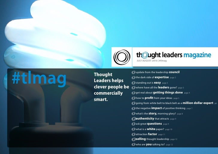 JULY AUGUST 2010 | #tlmag     #tlmag                             update from the leadership council          Thought      ...