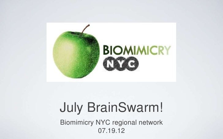 July BrainSwarm!Biomimicry NYC regional network           07.19.12