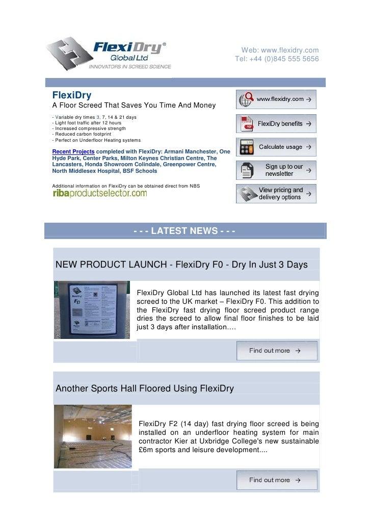 Web: www.flexidry.com                                                                      Tel: +44 (0)845 555 5656     Fl...