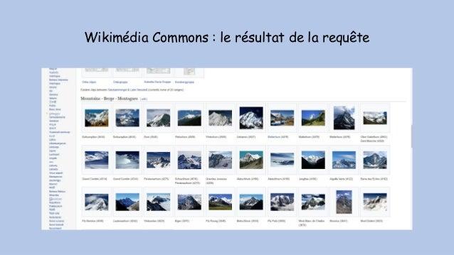 Wikimédia Commons : le résultat de la requête