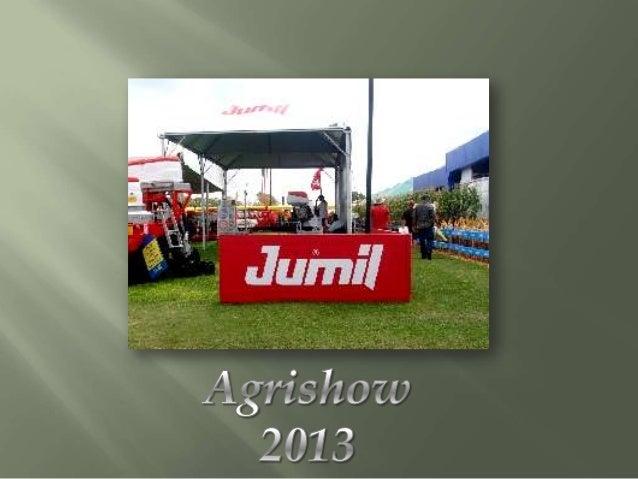 A Jumil, empresa demáquinas agrícolas, com 70anos no mercado e presenteem mais de 32 paises,desenvolveu duas novasplantade...