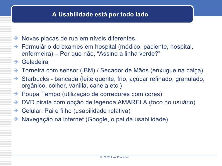 My Usability and User Experience Presentation at Jump Education Slide 3