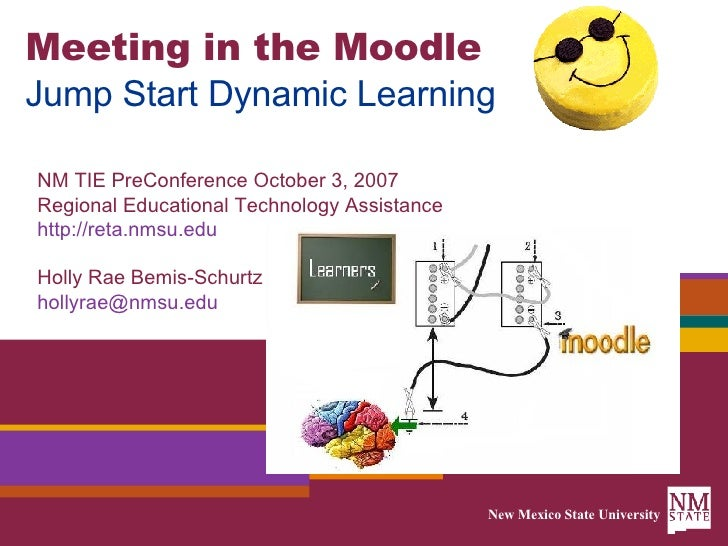 Meeting in the Moodle Jump Start Dynamic Learning NM TIE PreConference October 3, 2007 Regional Educational Technology Ass...