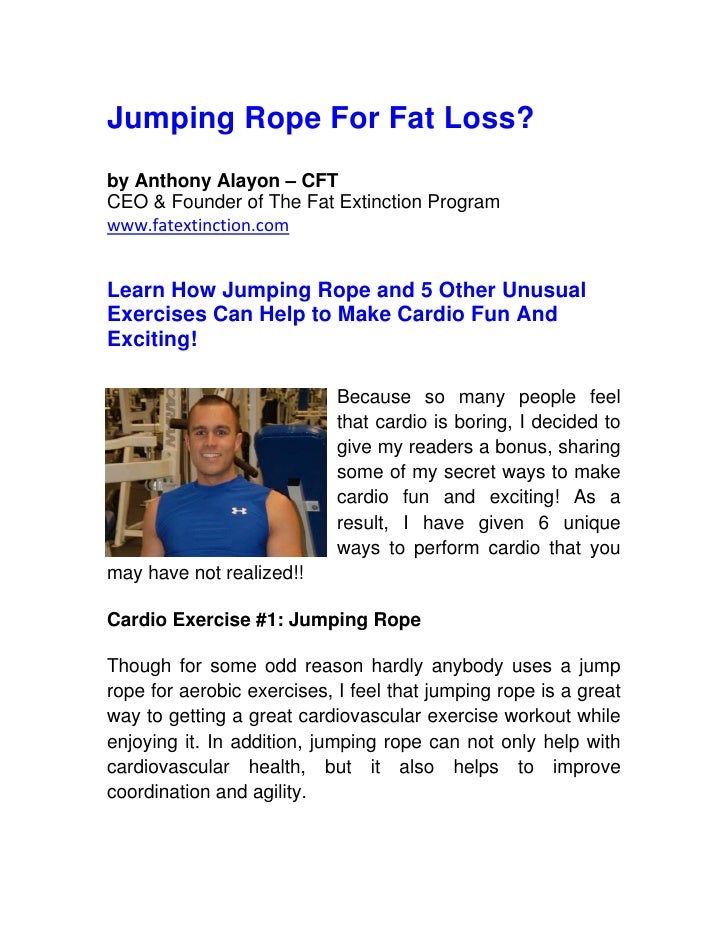 Jumping Rope to Lose Weight?