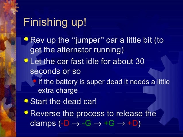 how to jump start a car when battery is dead. Black Bedroom Furniture Sets. Home Design Ideas
