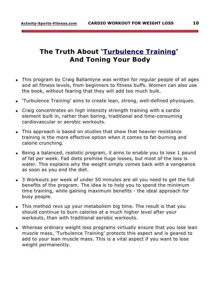 Turbulence Training Muscle 10 Activity Sports Fitness CARDIO WORKOUT FOR WEIGHT LOSS