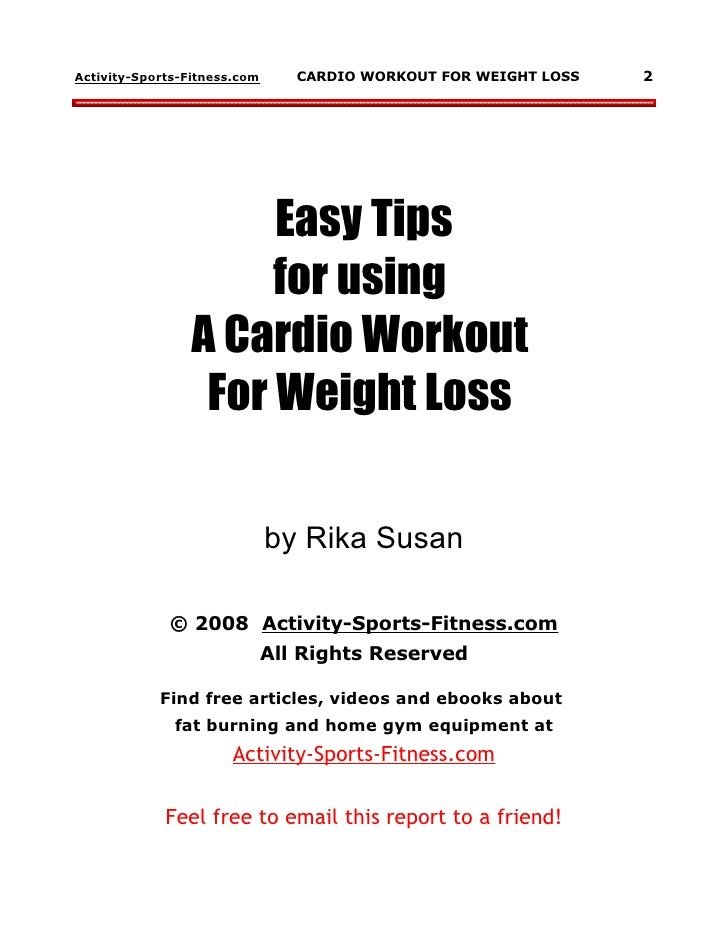 CARDIO WORKOUT FOR WEIGHT LOSS 1 2